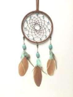 Dream Catcher Southwestern Leather Turquoise by TheModernDreamer