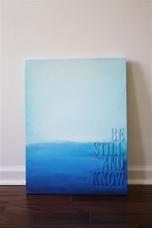 Use block letters glued to a canvas all in one color