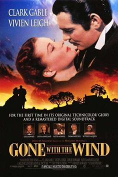 'Gone With The Wind' - Vivien Leigh as  Scarlett O'Hara wears several legendary dresses & gowns designed  by veteran film costume designer, Walter Plunkett. 1939.