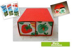 O que fazer com caixas de leite Tetra Pak?  Que tal criar gaveteiros para guardar pequenos objetos?