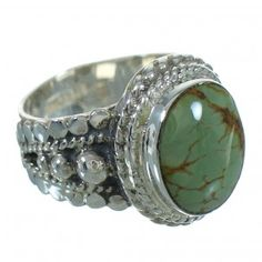 Turquoise Sterling Silver Southwest Jewelry Ring Size 7-1/4 RX87579-0