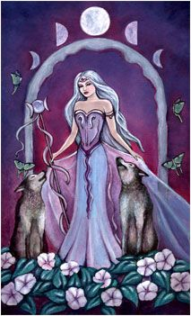 The Moon (Crystal Visions Tarot by Jennifer Galasso)