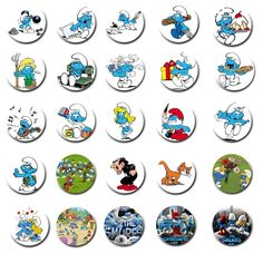 The Smurfs Free Digital Bottle Cap Images by Folie du Jour