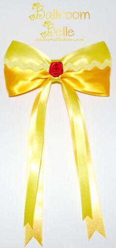 Ballroom Belle Hair Bow por MickeyWaffles en Etsy