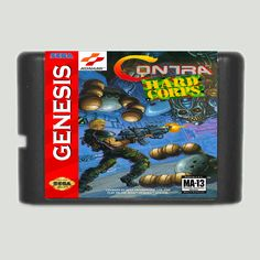 Contra The Hard Corps 16 Bit Game Card For Sega Mega Drive & Sega Genesis #Affiliate