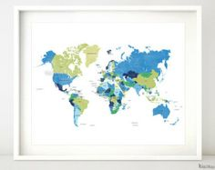 Free Printable World Map To Inspire Pinterest Free - Free printable world map with country names