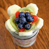 BREAKFAST PARFAIT  598 calories, 56 grams sugar, 24.1 grams fat, 79.7 grams carbohydrates, 18.5 grams protein for four parfaits