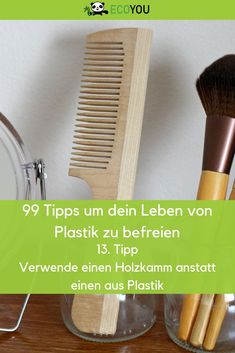 Use a wooden comb for your hair instead of a plastic comb. This is Nic. Beauty Tips Easy, Green Life, Christmas Dog, Zero Waste, Housekeeping, Decoration, Hacks, Plastic Plastic, Hand Care