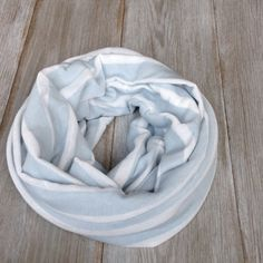 Light Baby Blue and White Infinity Scarf //Circle by TheBlueDodo