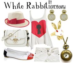 Disney Bound  white rabbit  alice in wonderland