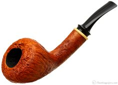 Bruce Weaver Sandblasted Bent Dublin with Boxwood Pipes at Smoking Pipes .com