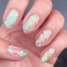 Shattered Glass Nails, kitoffkilter