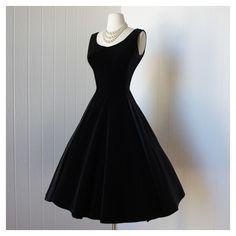 Black Velvet Dress via Polyvore