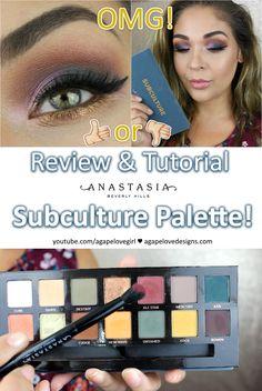 Video Review & Tutorial - #ABHcosmetics Subculture Palette! #abhsubculture #subculturepalette #anastasiabeverlyhills