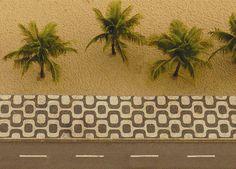 Roverto Burle Marx sidewalk by stereolab, via Flickr