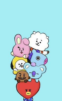 Find images and videos about kpop, bts and wallpaper on we heart it - the a Namjoon, Bts Taehyung, Bts Bangtan Boy, Hoseok, Jimin, Bts Chibi, Foto Bts, Cartoon Wallpaper, Bts Wallpaper