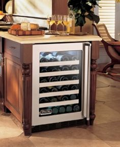As you probably know by now from my other pages, I'm a wine collector and I own and have owned many different wine coolers, Viking wine cooler...