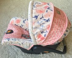 Daydream Blush Floral Custom Replacement Car Seat Cover for Chicco Keyfit or Chicco Keyfit 30