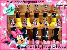 Fiesta Minnie, Fiesta Mickey, fiestas infantiles, ideas fiesta Minnie, ideas fiesta Mickey, dulceros infantiles, dulceros Mickey, dulceros Minnie myruchis.blogspot.com