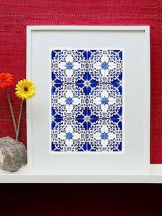 Lisbon  Blue tiles  Fine Art Photography  Wall by GaleriaDozeDez, €25.00