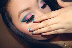 nails and eye shadow