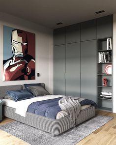 Likes, 48 Comments - Interior Kids Room Design, Interior Design Living Room, Living Room Designs, Interior Designing, Boys Bedroom Furniture, Bedroom Boys, Apartment Interior, Modern Bedroom, Home Decor