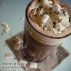 hot cocoa with baileys by Pokakulka on DeviantArt Champagne Brunch, Beverages, Drinks, Baileys, Drinking Tea, Hot Chocolate, Cocoa, Nom Nom, Pudding