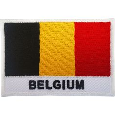 Belgium Flag Patch Iron On / Sew On Badge Football T Shirt Embroidered Applique