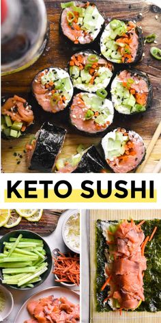 Low Carb Chicken Recipes, Healthy Low Carb Recipes, Ketogenic Recipes, Healthy Foods To Eat, No Carb Dinner Recipes, No Carb Recipes, Dessert Recipes, Low Carb Sushi, Low Carb Lunch