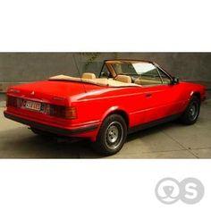 Kijken, klikken, vinden. Voor een koopje stap je in een Maserati Biturbo Spider uit 1989