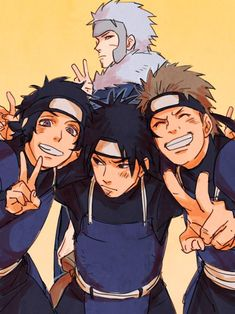 HAHAHA I love this! Tobirama with some of his subordinates: Danzo, Hiruzen, and Kagami :D