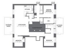 nyc luxury apt floor plans   New York City Luxury Apartment Floor Plans