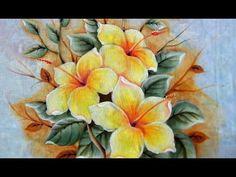 Como Pintar: Hibiscos Amarelos. - YouTube