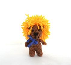 $36.66 be brave lion doll, unique toy lion, crochet lion, #knit lion doll, #fearless lion plush soft #play gift, psychological animal doll, modern dollhouse item