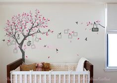 Wandtattoo - Baum Wandtattoo mit Fotorahmen - ein Designerstück von dreamkidsdecal bei DaWanda