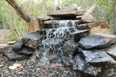 A pond-free waterfall (water is recycled from a shallow basin) - Sanibel, Fla.