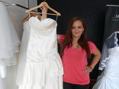 Our bride Zuzka with her wedding dress
