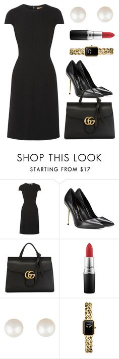 """""""Untitled #1884"""" by claireyim ❤ liked on Polyvore featuring Bottega Veneta, Tom Ford, Gucci, MAC Cosmetics, Tiffany & Co. and Chanel"""
