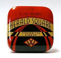 Vintage Harold Square Typewriter Ribbon Tin by CanemahStudios, $11.99