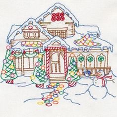 Gingerbread Houses embroidery designs