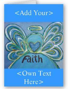 Custom Greeting Card with Faith Angel