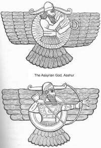 Ahura is the Persian rendering of Vedic asura which is uncommonly like Ashur, though the Assyrian language was Semitic. J H Moulton, who knew something about these things, agreed with Dr Martin Gemoll who proposed in 1911 that Ahuramazda was the same god as Ashur.