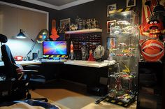 Nerd Cave by Face Ache, via Flickr. Places for gaming, models, posters...