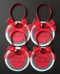 Set of 4 handmade tags by anythingscrappy