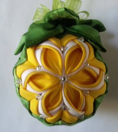 CalaLily Quilted Spring Ornament by LoriCreationBoutique on Etsy