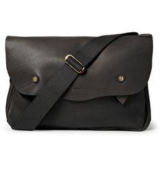 Bill AmbergHunter Textured-Leather Messenger Bag MR PORTER