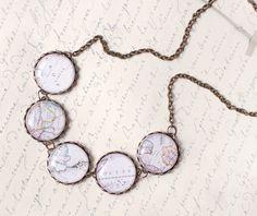 World Map necklace  Traveler's jewelry BN014 by BeautySpot on Etsy, $35.00