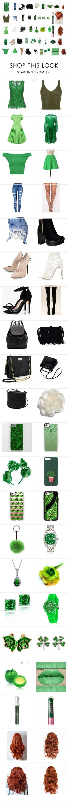 """Everything Poison Ivy"" by audramwalker on Polyvore featuring Dolce&Gabbana, WearAll, Zoe Vine, Naven, WithChic, Casadei, Charlotte Russe, Boohoo, Cape Robbin and Witchery"