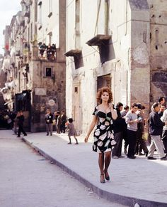 Sophia Loren photographed during the filming of Marriage Italian Style (1964)