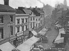 A very atmospheric photo (probably early showing the market and St Matthews Church in the top right Old Pictures, Old Photos, St Matthews Church, Wille, Saint Matthew, Walsall, Better Day, West Midlands, My Town